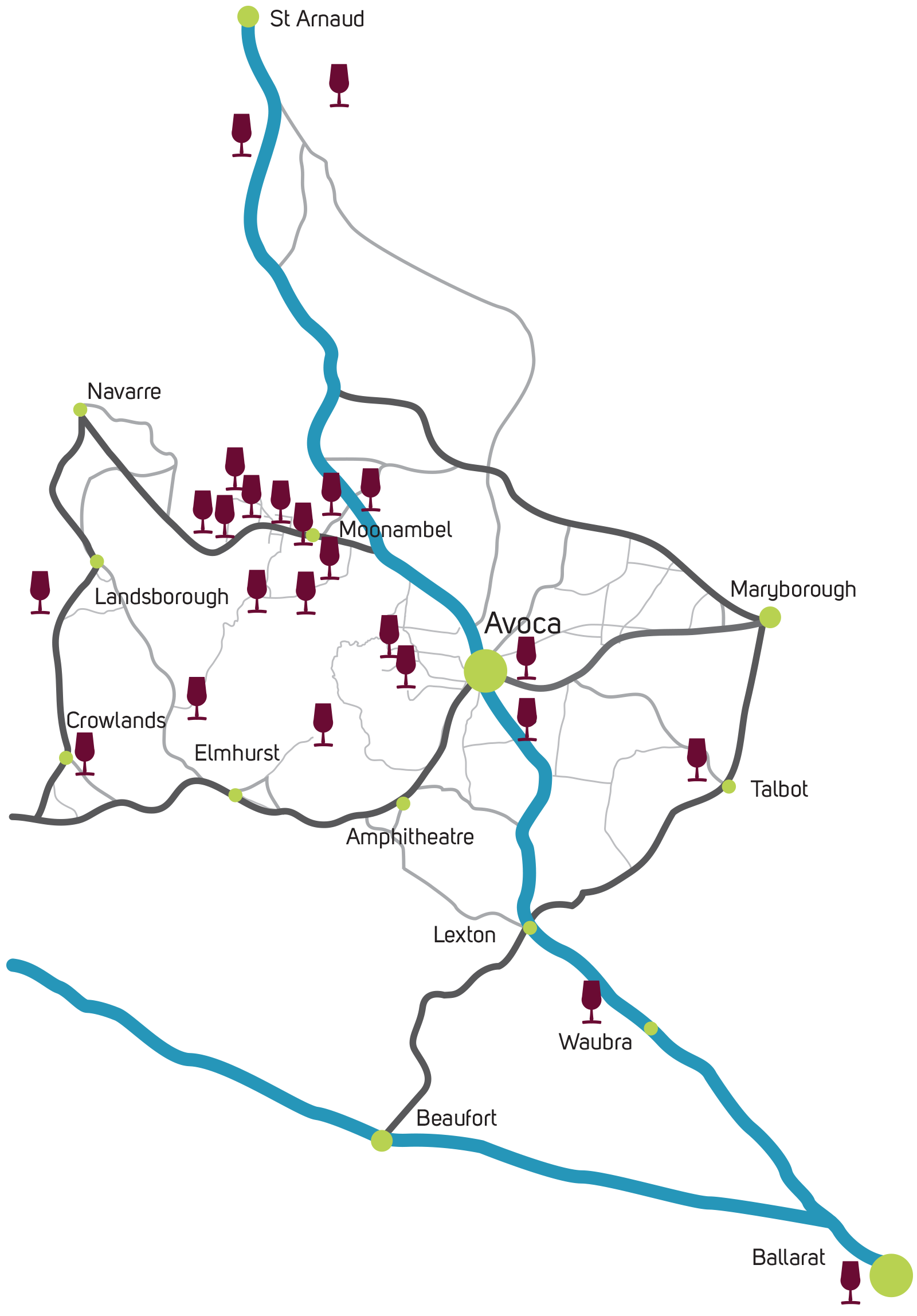 Pyrenees Wineries Map