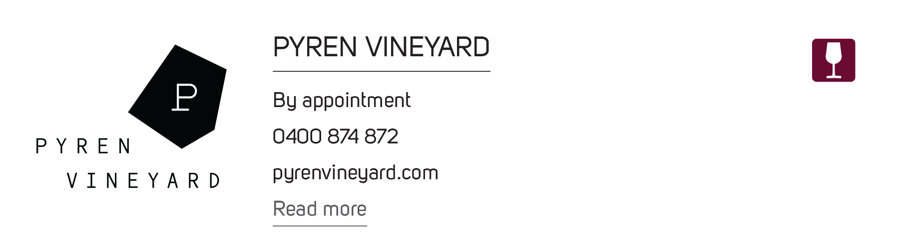 Pyren Vineyard Button
