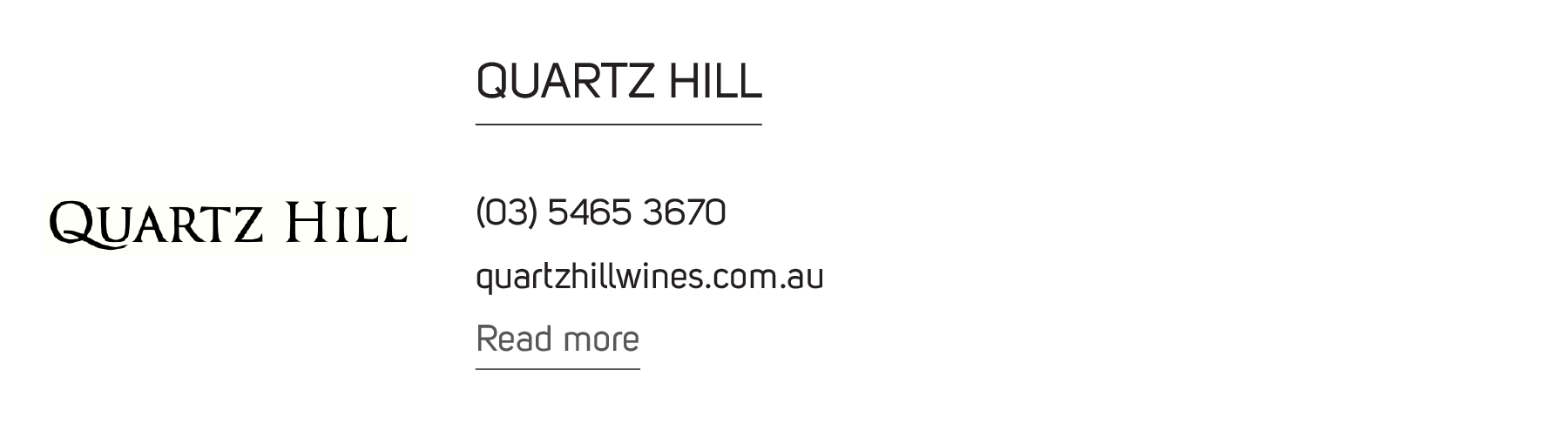 Quartz Hill Wine
