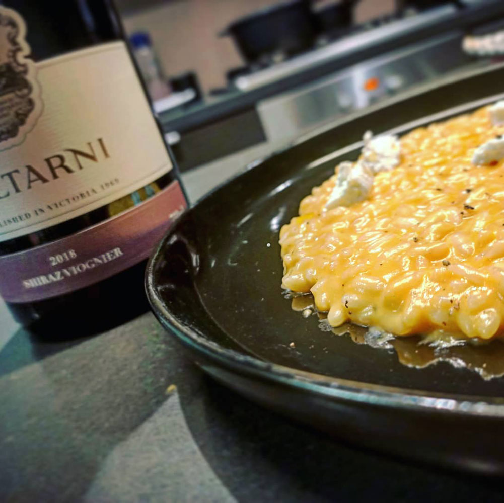Pumpkin, Ginger & Goats Cheese Risotto from Taltarni